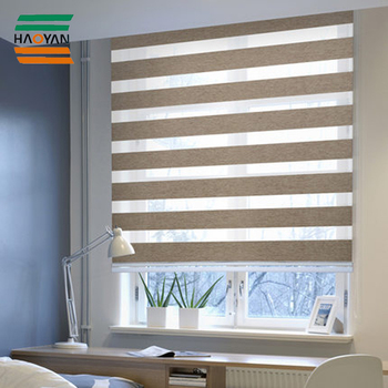 Haoyan New Design Wholesale Zebra Fabric for Roller Blind with Zebra Roller roman Blind Accessories