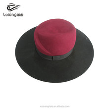 china fashion decorated black fedora hats for women with band