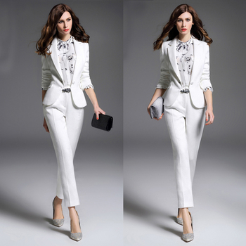 aadf1211cc9 Custom New style Formal Pantsuits Women Pant Suits Business Suits Trousers  and Blazer Sets