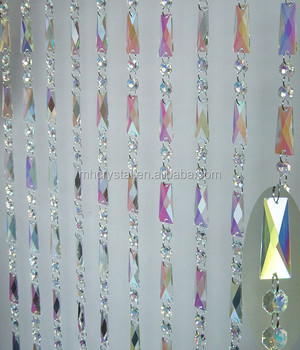 Iridescent Crystal Bead Curtain MH 12639