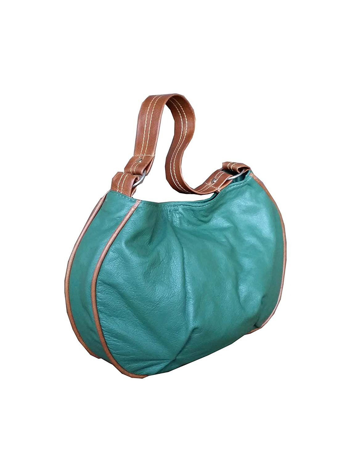 bc3f24b729 Get Quotations · Fgalaze Green Leather Hobo Bag