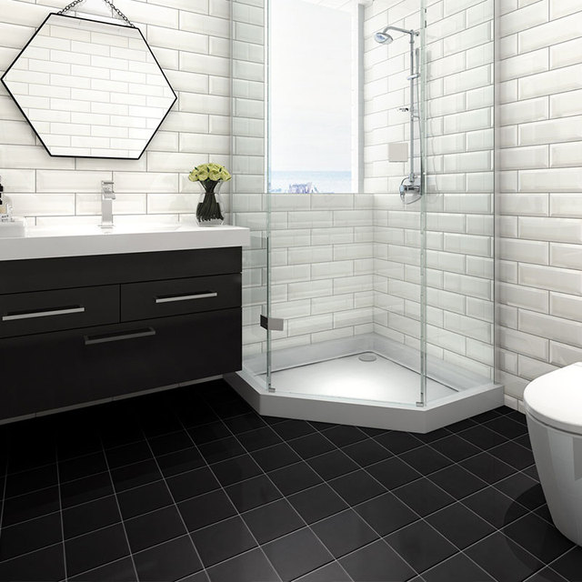Bathroom Floor 200x200mm Glazed Ceramic
