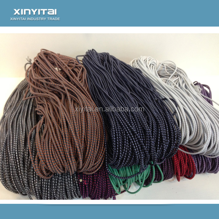 Customized durable 3mm polyester elastic drawstring cord for bag