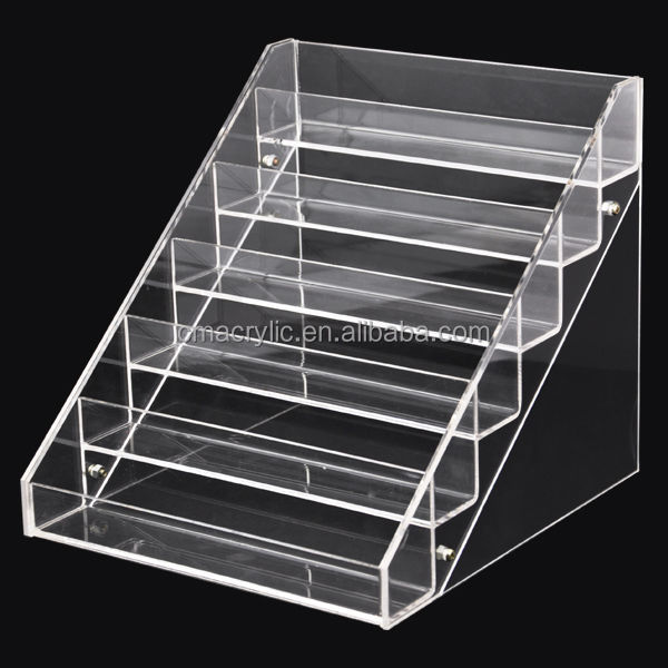 6 Tiers Clear Acrylic Makeup Cosmetic Nail Polish Display Floor ...