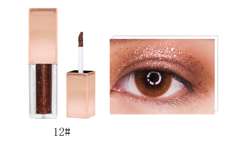 Private Label Makeup Glitter Liquid Eyeshadow Palette Sexy Cruelty Free Best Eyeshadow OEM 10 Colors