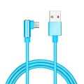 MFi certified manufacturer 90 degree right angle braided usb cable micro for playing mobile game