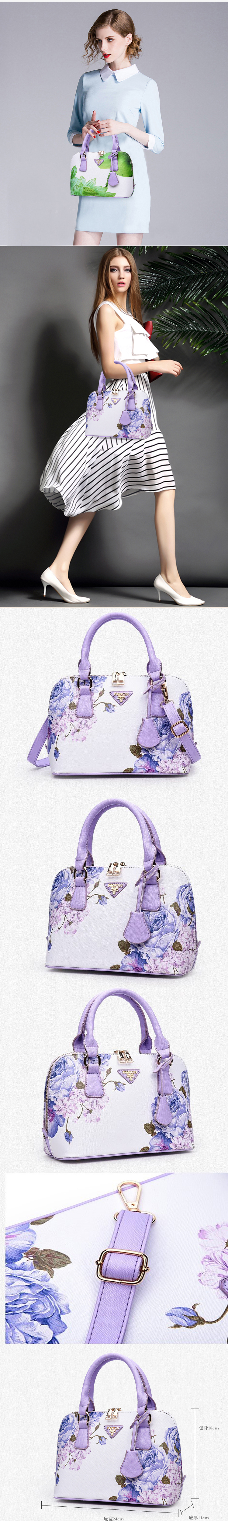 2019  Printed shell  made in china luxury bags women handbags