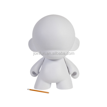 "custom make Blank DIY 7"" Munny White Figure Vinyl Toy"