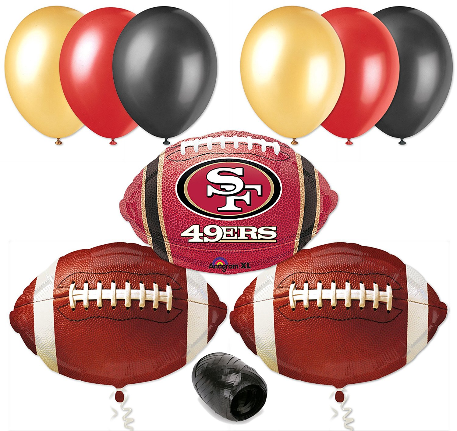 Get Quotations San Francisco 49ers NFL Football Balloon Decorating Party Pack 10pc