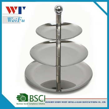 3 Tier Stainless Steel Plate Stand / Cake Stand Cupcake for Wedding  sc 1 st  Alibaba & 3 Tier Stainless Steel Plate Stand / Cake Stand Cupcake For Wedding ...