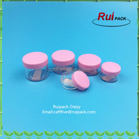 Empty PS plastic cream packaging jar for cream,loose powder