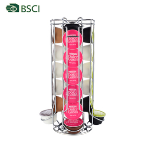 Coffee pod rotating 4 lines holder 24pcs