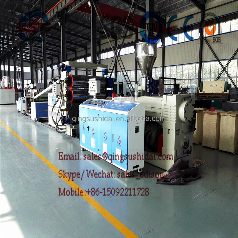 Marble pvc making stone plastic extrusion line production marble sheet machine