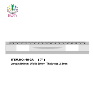 18cm 20cm 30cm custom size adjustable square flexible scale measuring plastic ruler