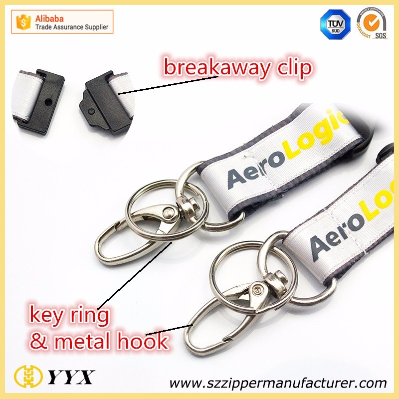 Many types customer printed neck lanyards for keys with wonderful OEM logo