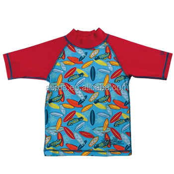 Sun shirts for baby boys rash guard short sleeve loose fit for Baby rash guard shirt