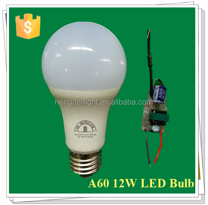 Chine Supplier Promotion Plastic Aluminum 30000h A60 E27 7W 9W 12W A19 China LED lights