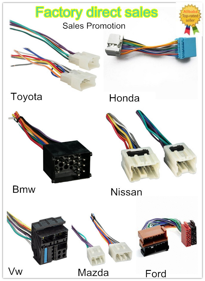 iso harness car gps dvd player video wiring harness adapter rh alibaba com Custom Automotive Wiring Harness Kits car stereo wiring harness connectors