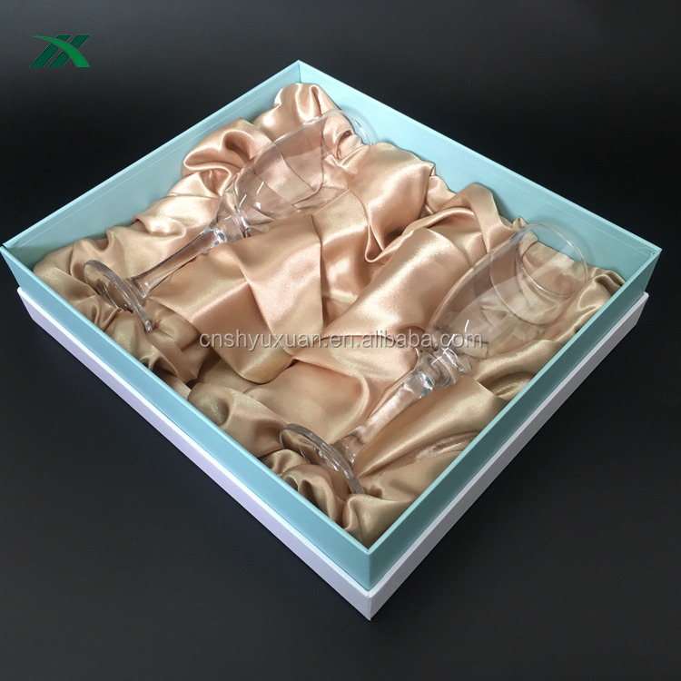 hard printed cardboard box for glasses with fabric