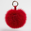 Vintage fur charm rabbit fur pompon genuine real fox fur keychain