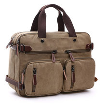 17-inch canvas bag business briefcase 핸드백