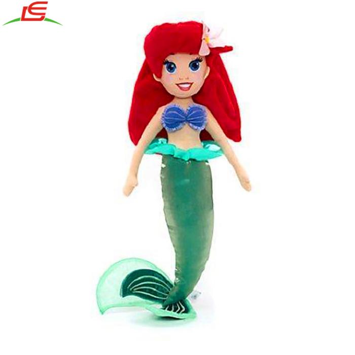 Pequeña Sirena Princesa Ariel Peluche Muñeca De Trapo Grande De ...