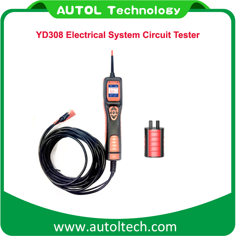 YD308 automotive electrical system Circuit Tester Instantly identifies positive, negative and open circuits