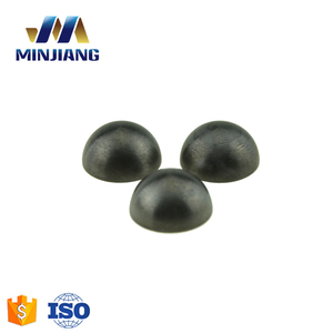 Round tungsten carbide spherical button on tricone and PDC bit