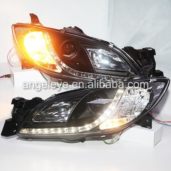 2003-2008 year Mazda 3 M3 LED Head Lights with Projector Lens SN