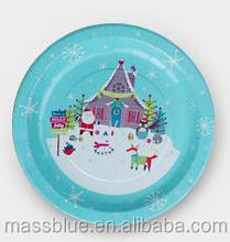 Nice winter picture paper plate