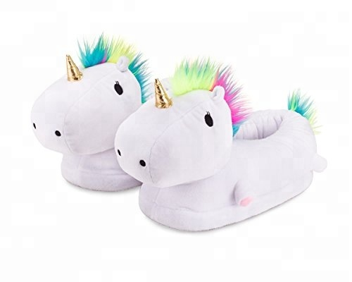 wholesale Indoor thermal shoes cute plush Winter animal slippers Unicorn slipper