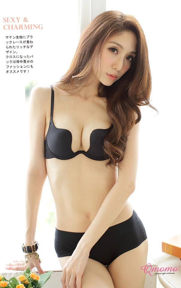 d2a77dd7ecd Get Quotations · Black Lingerie Set Thin Bra Super Push Up Seamless Bra Set  Female Underwear Soild Vs Victoria