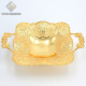 Tulip Design Gold Plated Square Shape Chocolate Fruit Plate