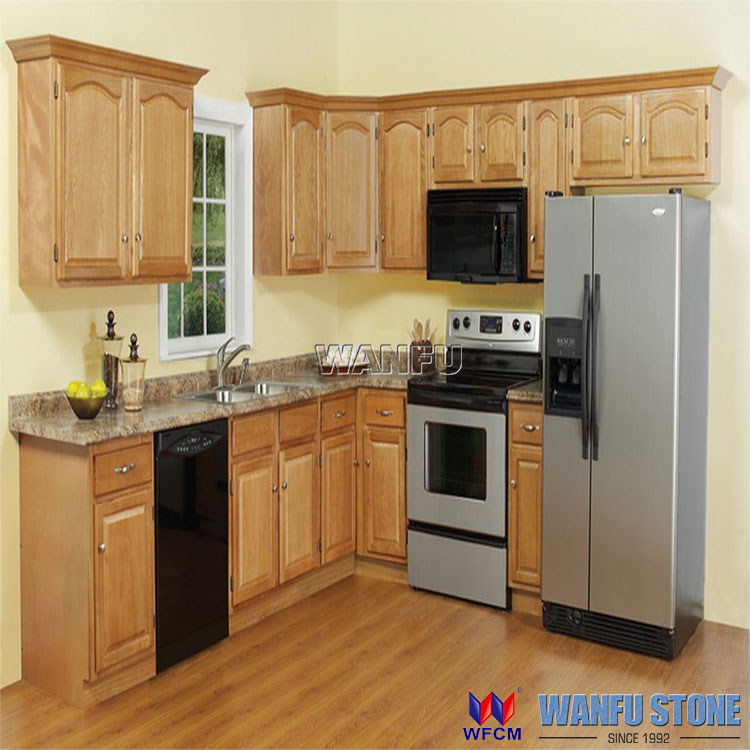 Kitchen Cabinets Made To Order: Dark Cherry Finish And Maple Solid Wood Kitchen Cabinet