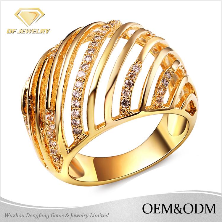 Latest Design 18k Gold Rings Silver Jewelry Women Aaaaa Cubic ...