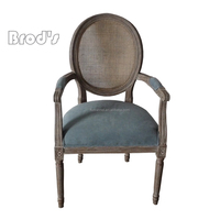 antique french style Home goods dining chair dining table and chair oval rattan back dining chair