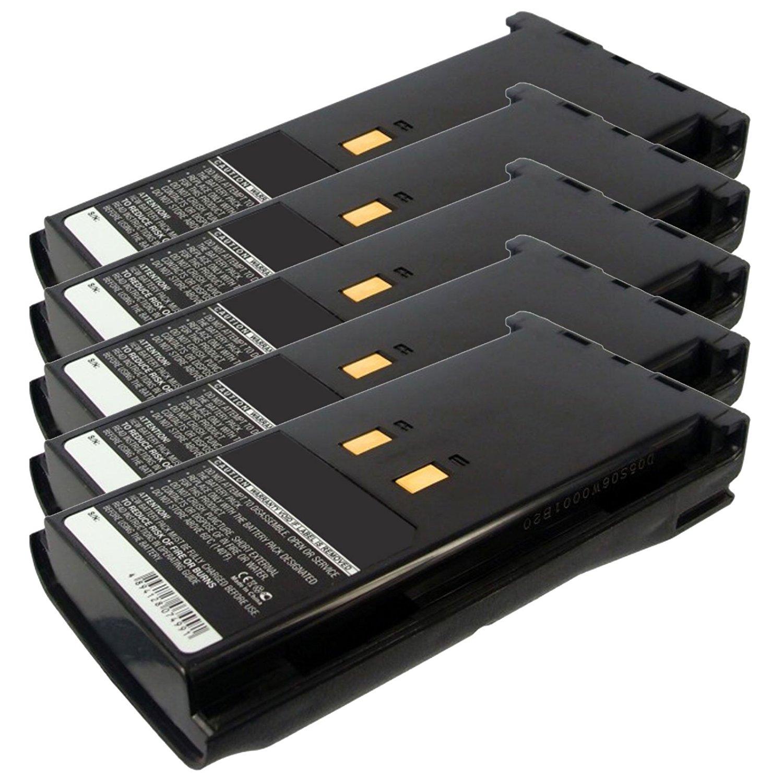 5x Exell 7.2V 2100mAh Ni-MH FRS 2way Radio Battery Fits Kenwood KNB-16A, KNB-17N, KNB-21N, KNB-52N, KNB17A, TK-180, TK-190, TK-410, TK-490, TK-5400, TK280, TK290, TK380, TK385, TK390, TK480