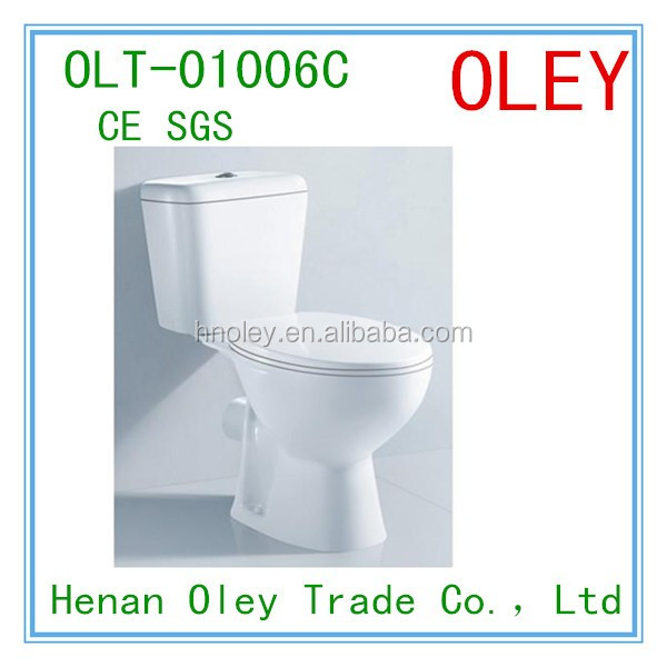 two piece wash down p trap toilet for UK,CE certification toilet 1006c