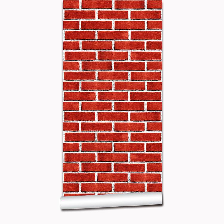 Pvc Texture 3d Brick Wall Panel Decoration Red Wallpaper Brick