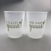 Bachelorette Party Plastic Wedding Bride and Bride Tribe Cups