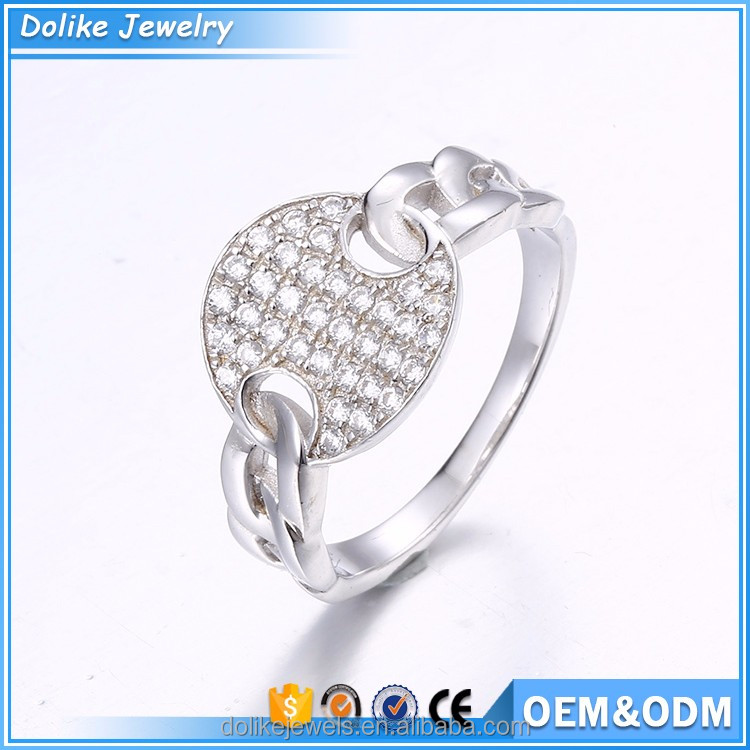 Hot sale fashion silver ring designs women 2012