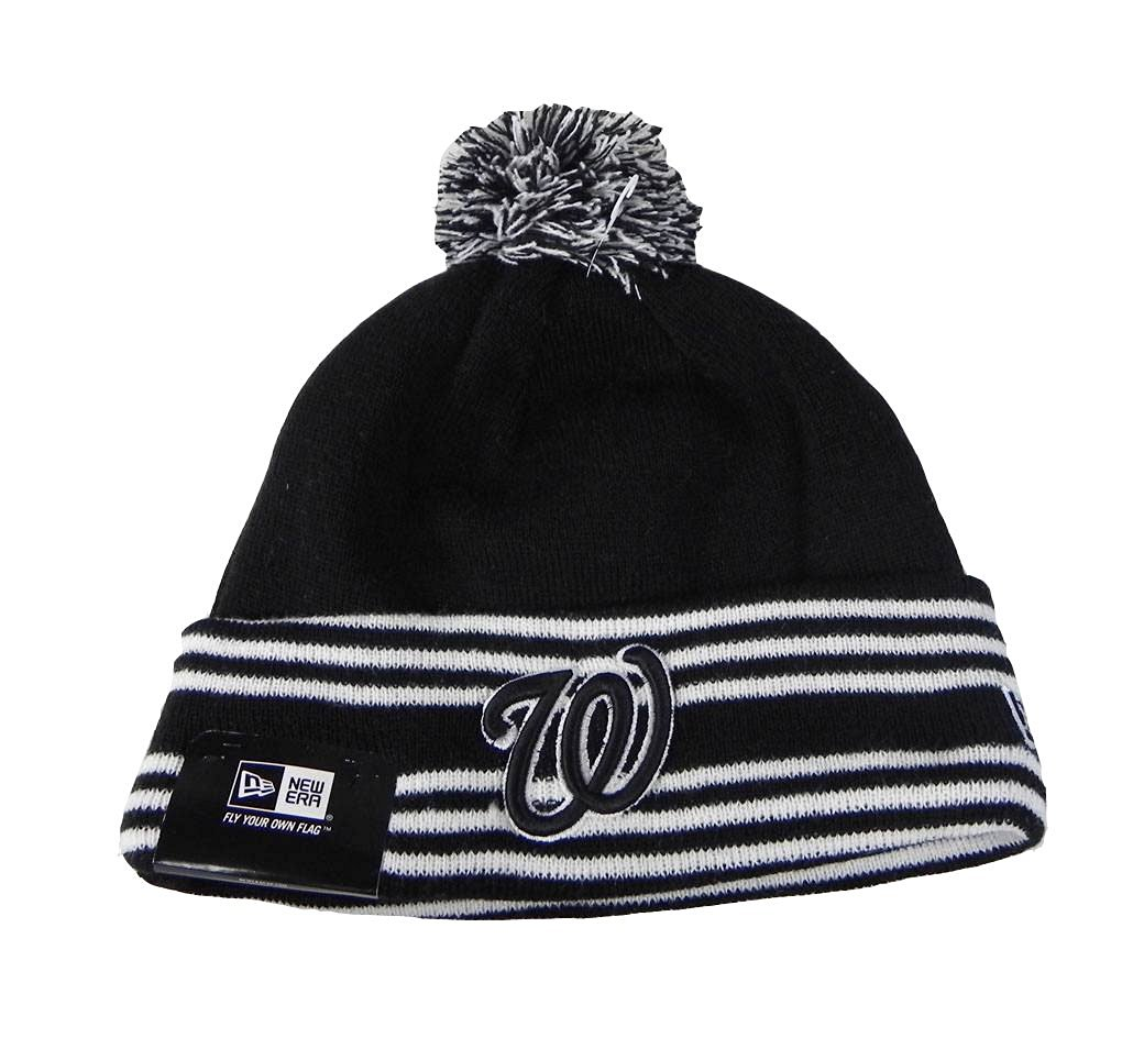 c8cd965c055 Get Quotations · New Era Beanie MLB Sport Knit Headwear Washington  Nationals Men Size Hat Black
