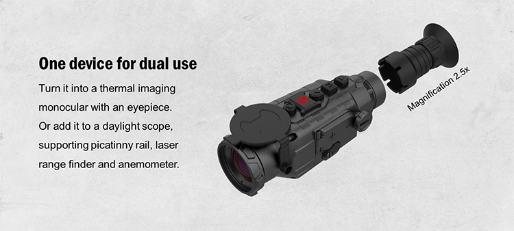 night vision scope with thermal imaging attachment -TA435