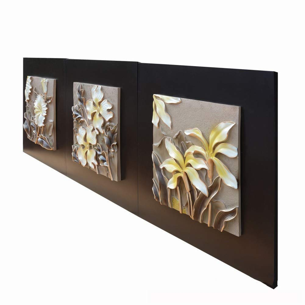 XQY Triple Relief Embossed Painting, Embossed Wall Decoration - Decorative Painting, Sofa Background Painting, Frameless Painting, Craft Painting