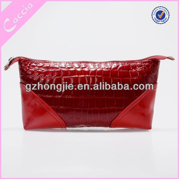 Stone Pattern PVC Material make up pouch,makeup pouch,makeup pouches red pouch cosmetic bag pvc evening bag