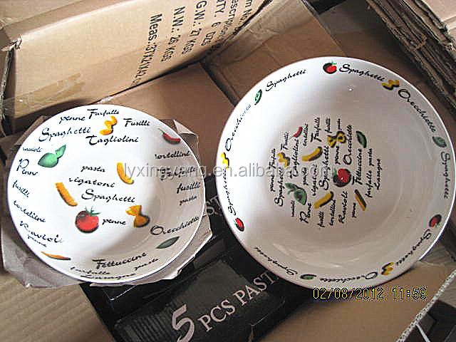 7 pcs ceramic pasta bowl pasta platebowls and platesporous ceramic plate & 7 Pcs Ceramic Pasta Bowl Pasta PlateBowls And PlatesPorous Ceramic ...