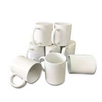 White cup Wholesale AAA 11oz White Coated Inner Colorful Mug for Sublimation