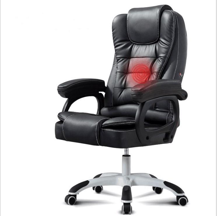 Tsf Black Designer Office Chair Ergonomic Pu Leather ...
