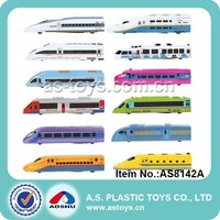 12PCS Super speed pull back die cast trains
