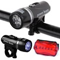 2016 Hot sale Bike Accessories Velo Waterproof Set Ultra Bright 5 LED Front Light Lamp Rear
